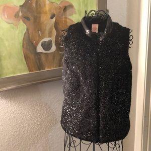 Faded glory girls black vest size XL 14-16